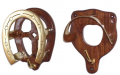 Horse Fare Plain Style Bridle Bracket Wood/Brass